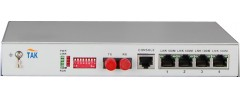 power over Ethernet 4*100M(802.3af) fiber media converter with VLAN setting